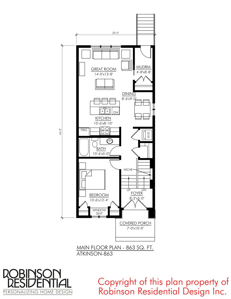 Tiny Home Designs: Craftsman Atkinson-863