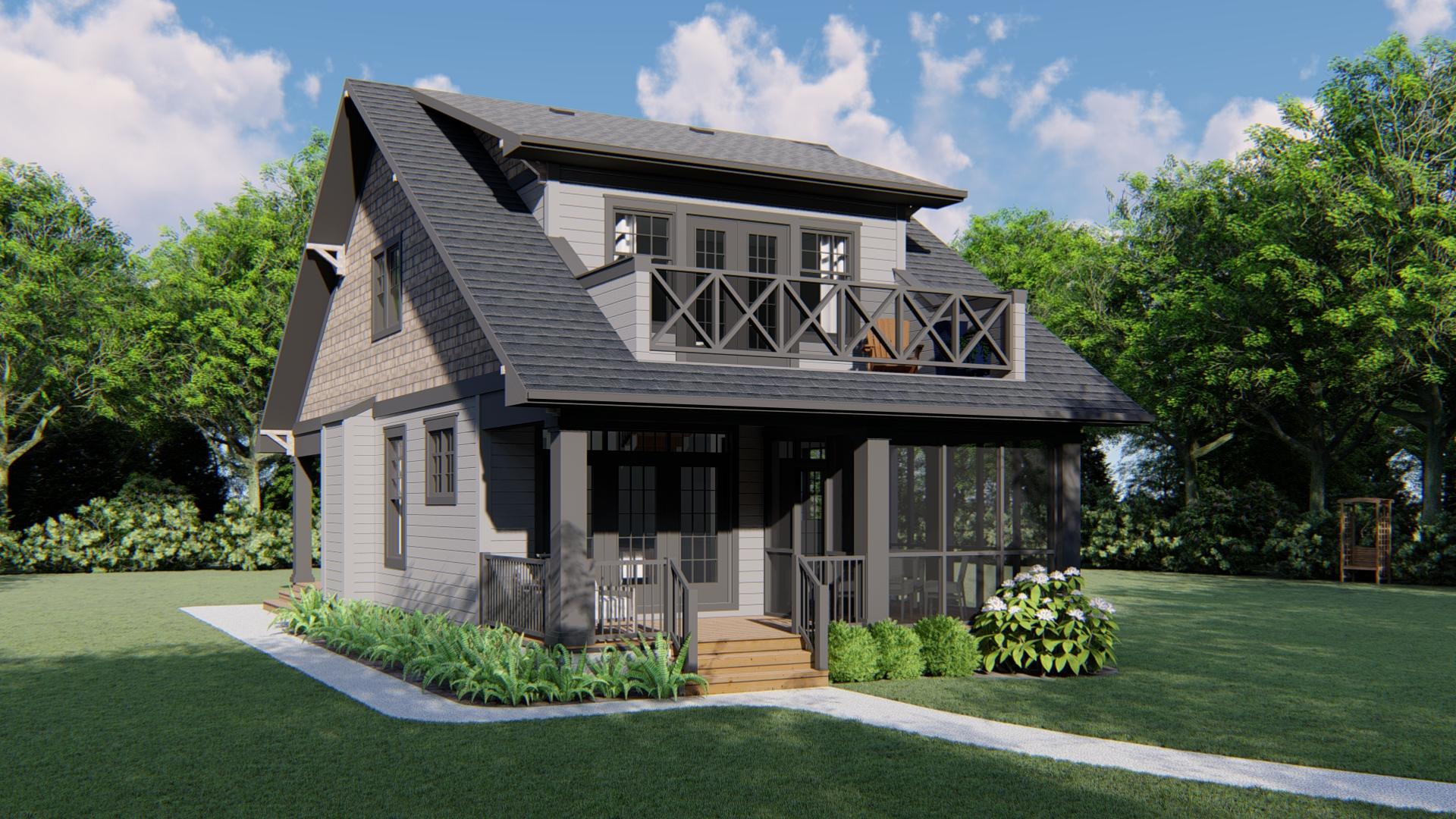 House Plans Craftsman | Craftsman H 1851