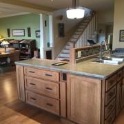 CRAFTSMAN HOME PLANS – MIKKELSON-2584 – KITCHEN & STAIRS TO LANDING – ANNAPOLIS ROYAL, NOVA SCOTIA