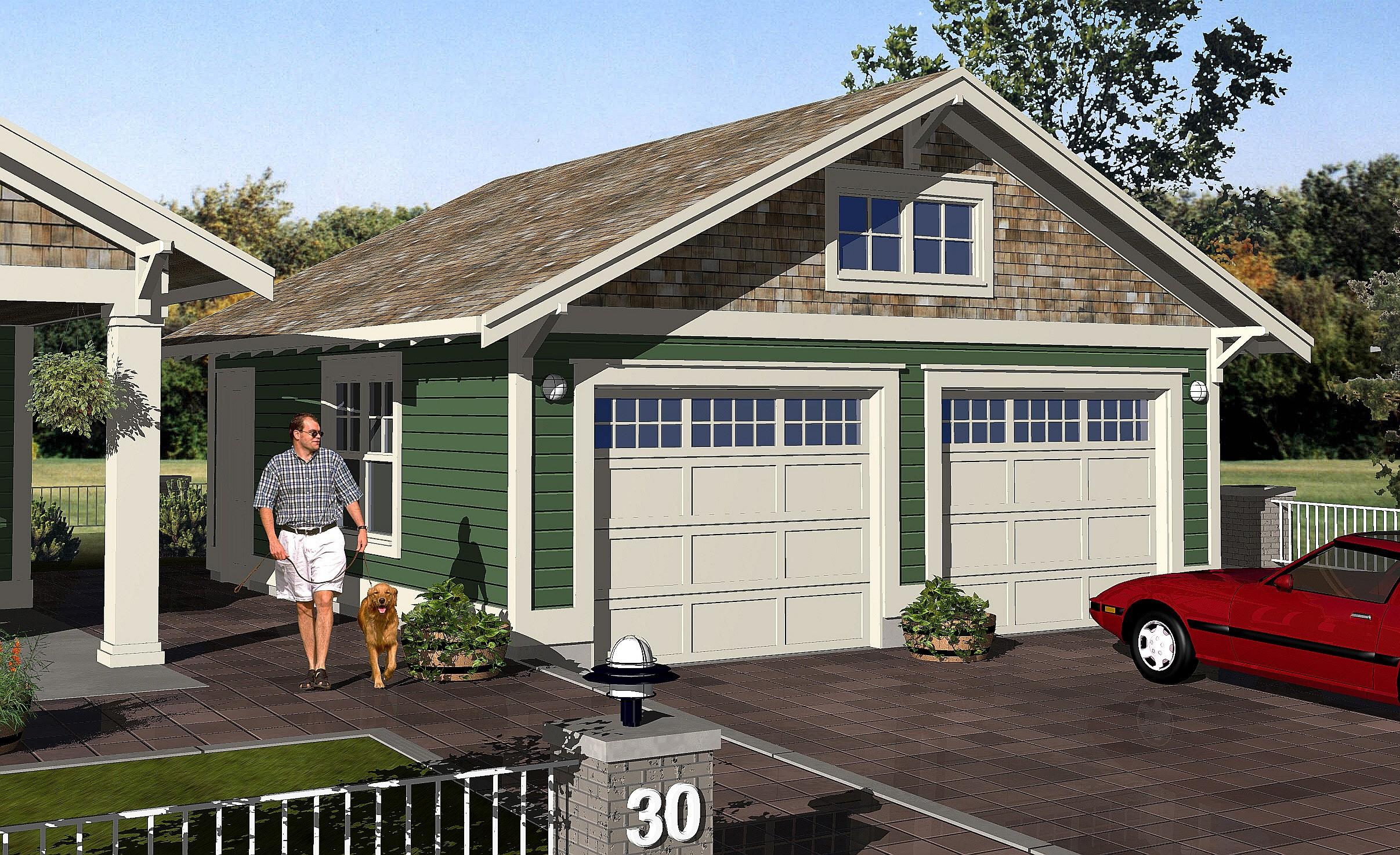 Craftsman g 2 robinson plans for Craftsman garage plans