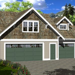 CRAFTSMAN GARAGE STUDIO PLANS - GS-594