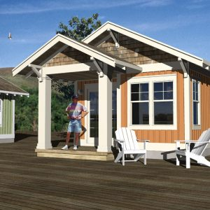CRAFTSMAN GUEST HOUSE PLANS - GHA