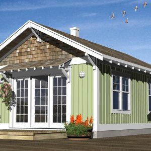 CRAFTSMAN GUEST HOUSE PLANS - GHB