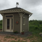 GARDEN SHED 2 (Client Designed)- ANNAPOLIS ROYAL, NOVA SCOTIA
