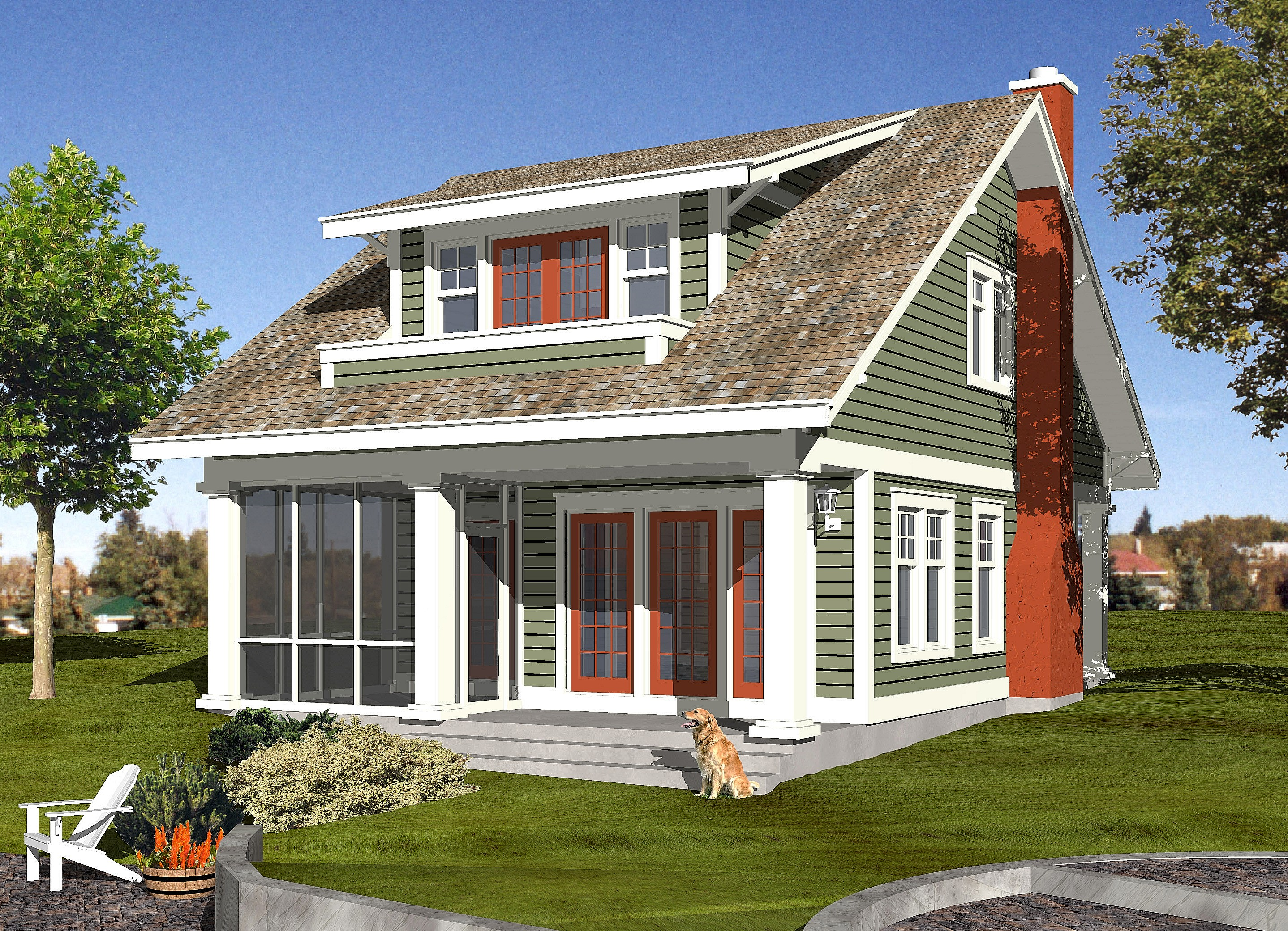 Craftsman h 1522 robinson plans for Robinsons homes design collection