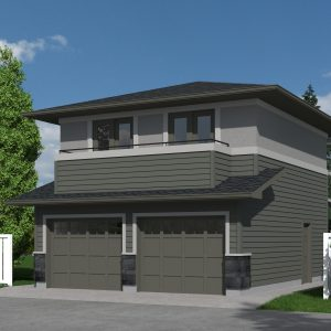 CONTEMPORARY GARAGE STUDIO PLAN - HARRIS