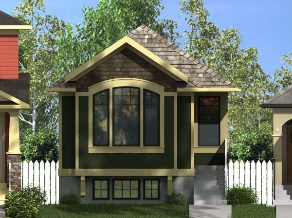 Craftsman leopold 976 with suite robinson plans for Open concept craftsman house plans