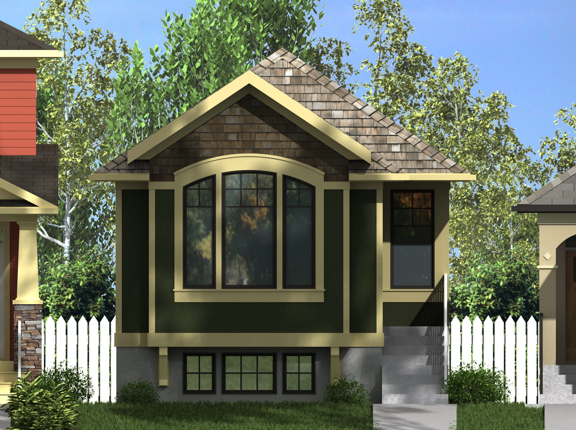 Craftsman Leopold-976 (with Suite) on narrow lot modular homes, narrow lot triplex plans, narrow lot lake home plans,