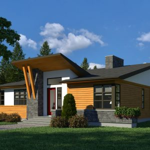 CONTEMPORARY HOME PLANS - MONARCH
