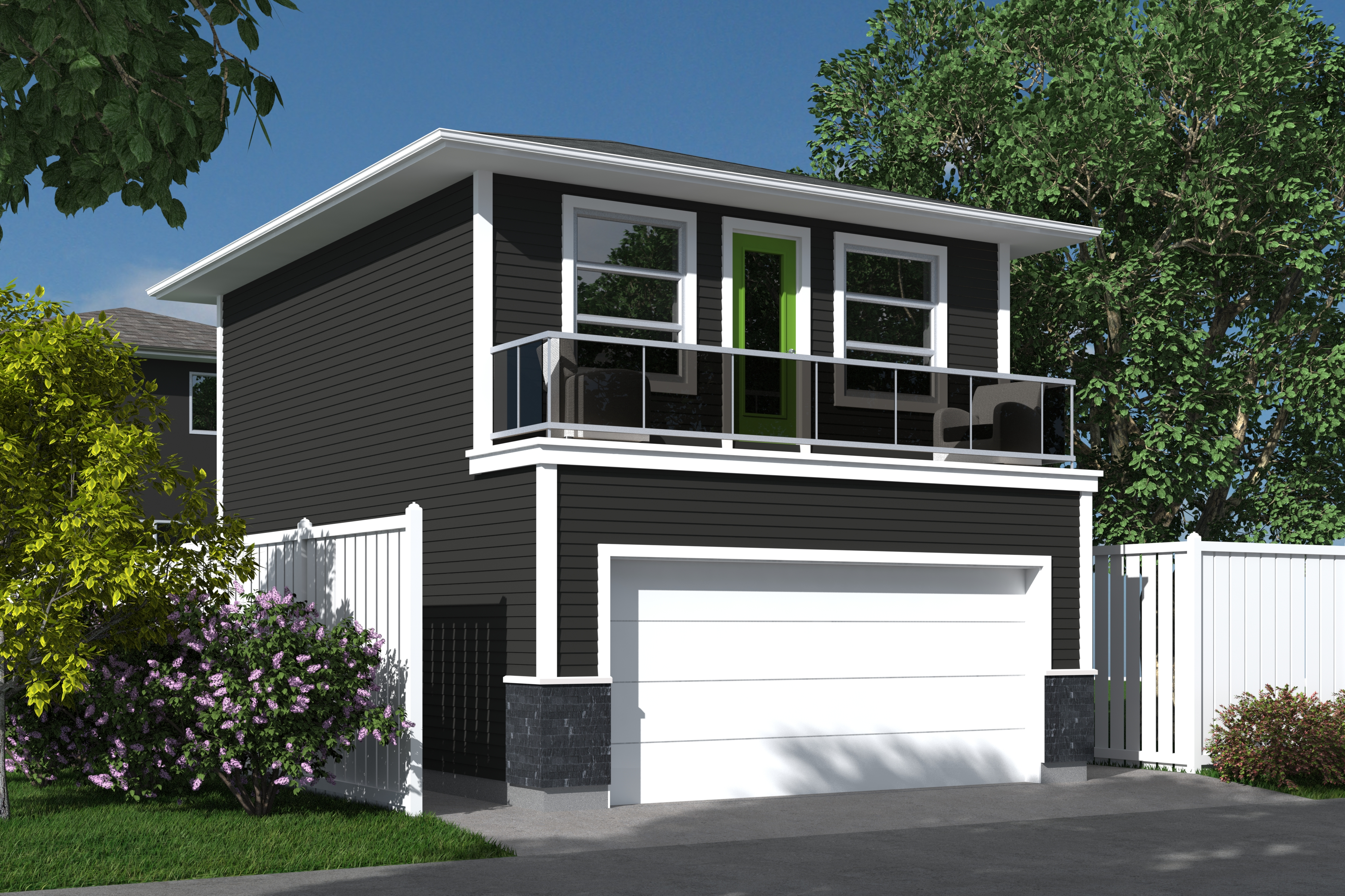 Contemporary viron 480 robinson plans Modern house plans with garage