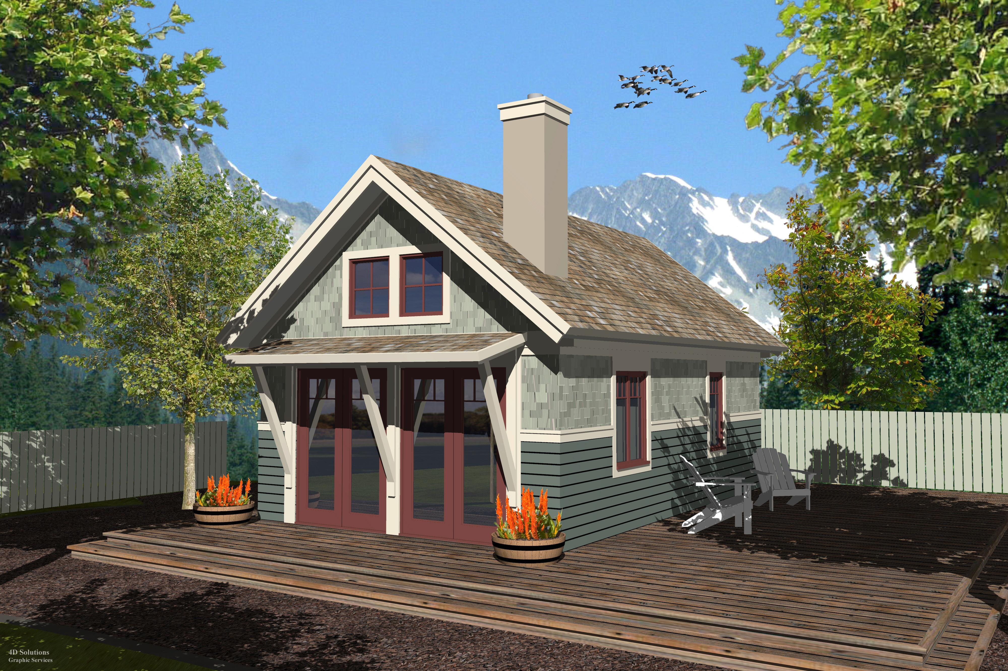 Tiny Home Designs: Craftsman WW-K-400