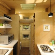 TINY HOUSE PLANS – CONTEMPORARY DRAGONFLY-20 – KITCHEN, LOFT & BATHROOM