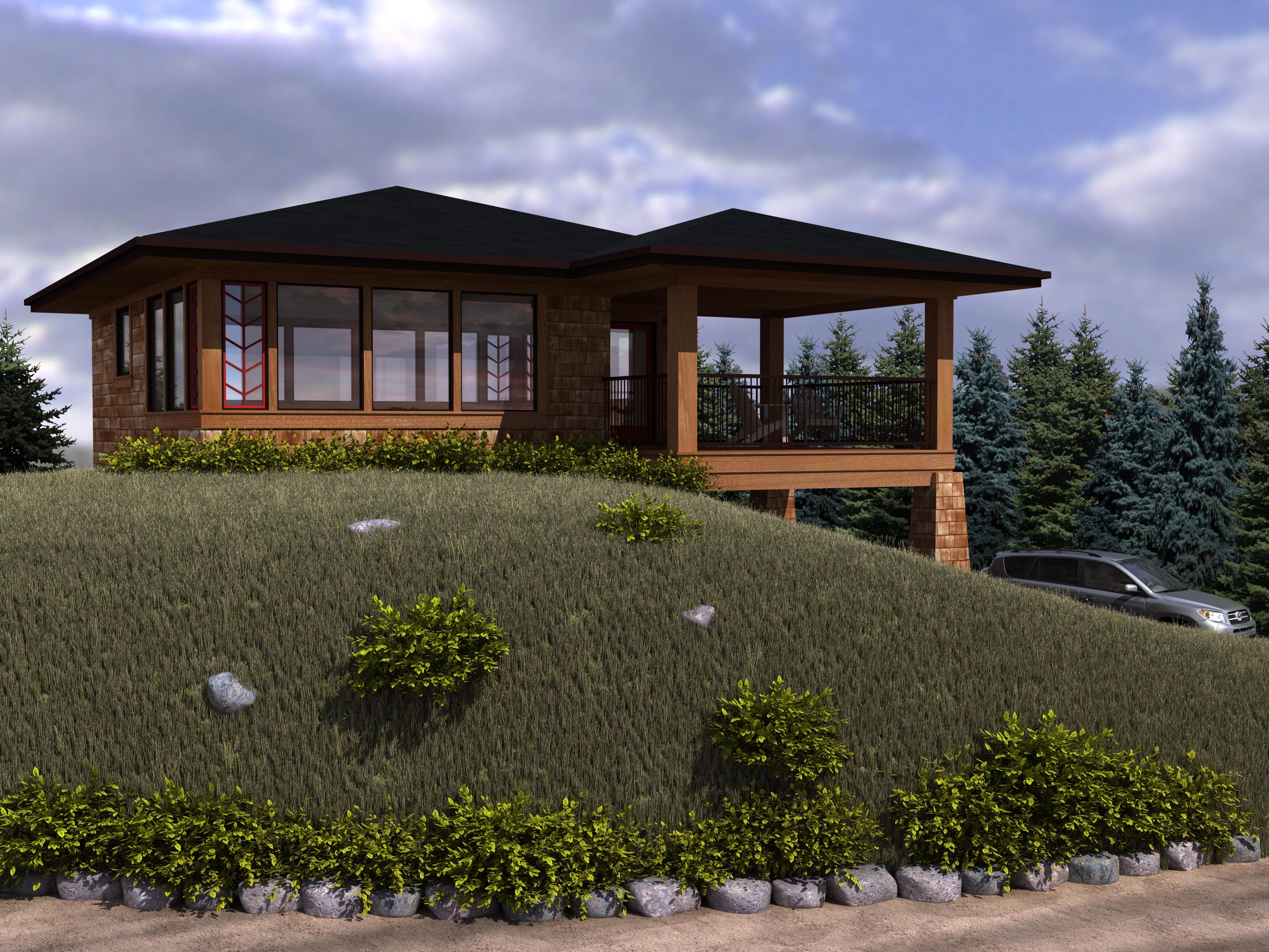 Cottage house plans with lots of windows for House with lots of windows