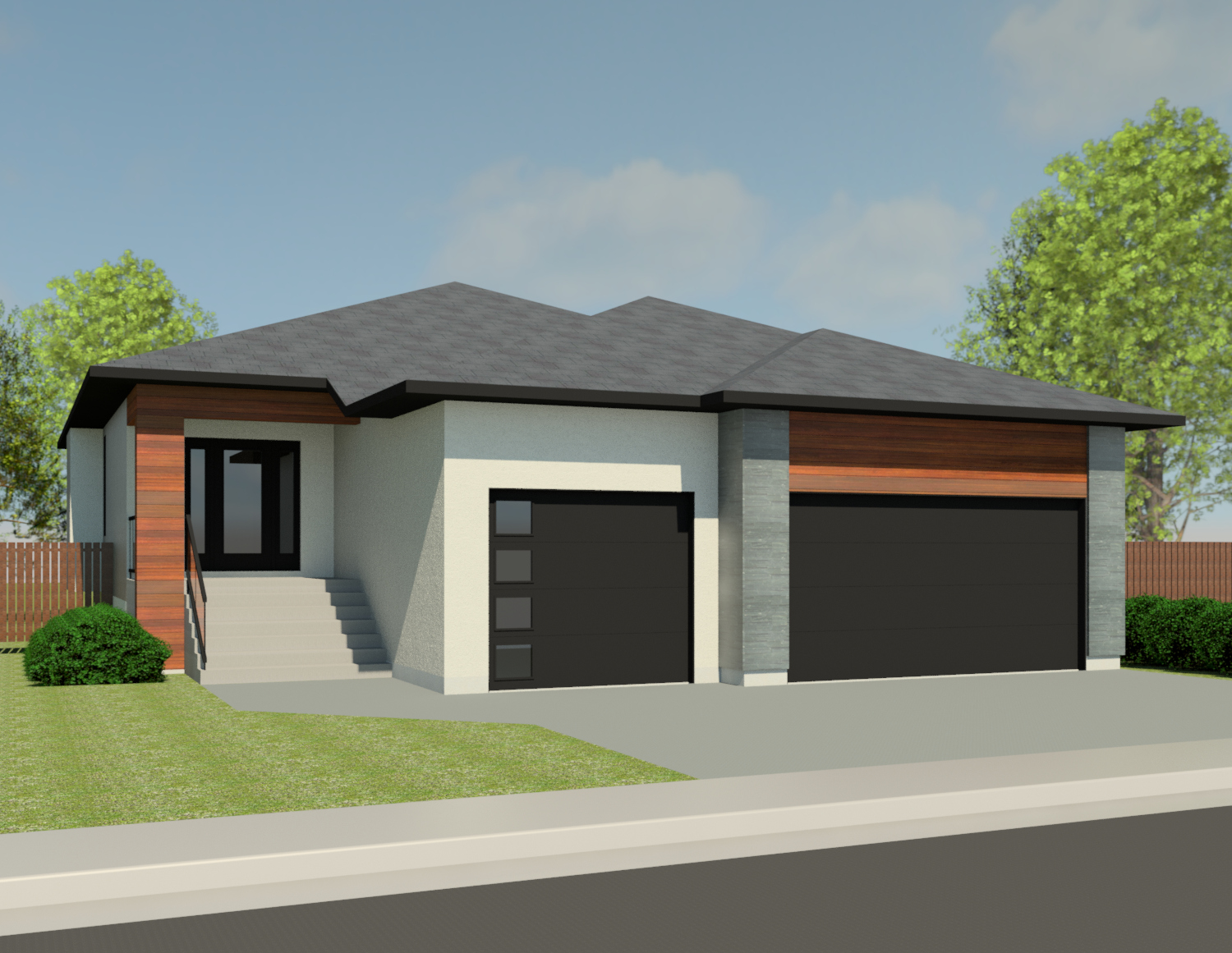 CONTEMPORARY HOME PLANS - BIRCHWOOD-1440
