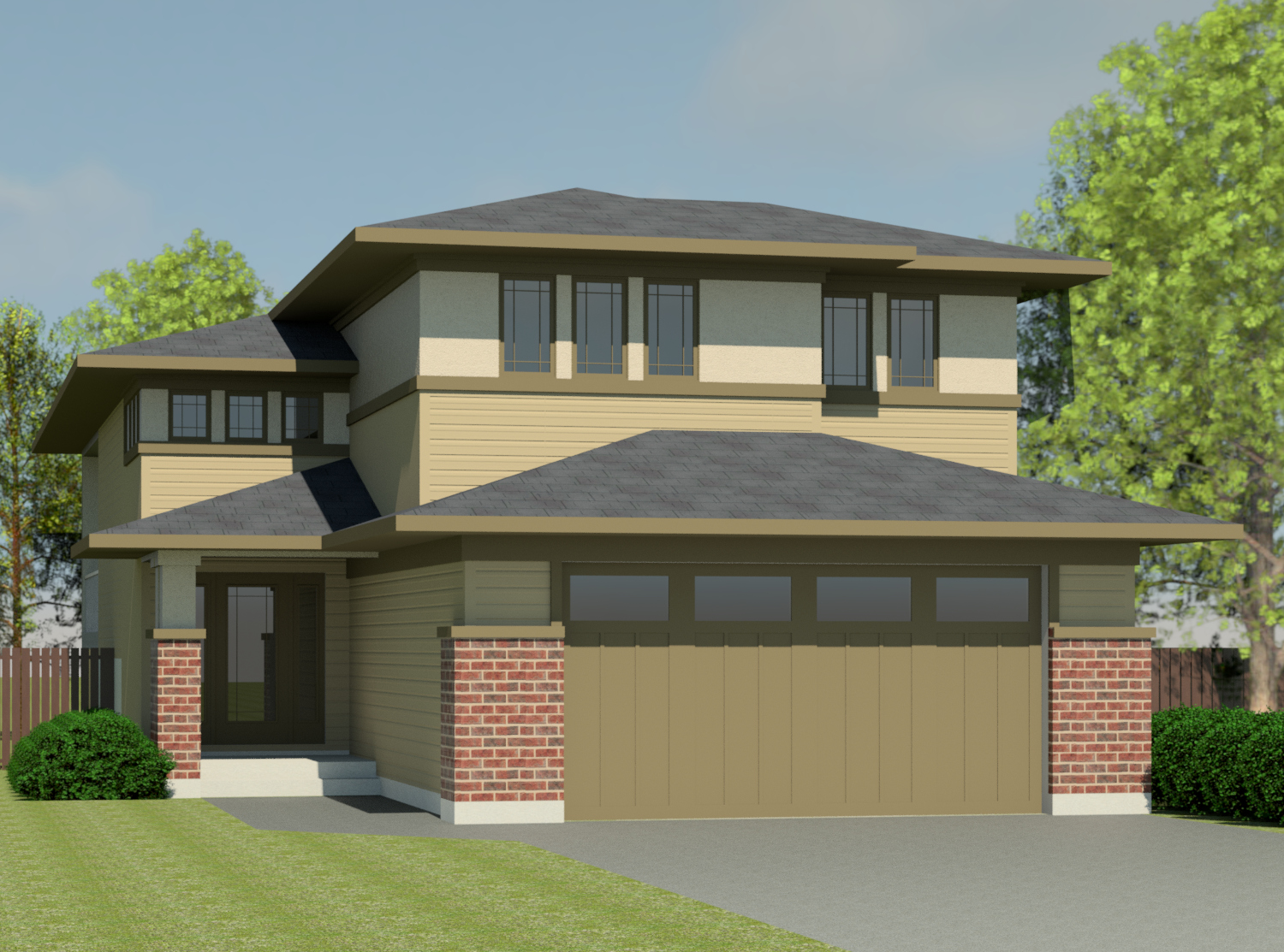 Prairie clearbrook 1540 robinson plans for Prairie house designs