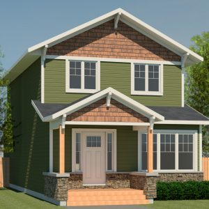 CRAFTSMAN HOME PLANS - ATLAS-1512 - FRONT