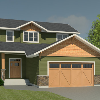 CRAFTSMAN HOME PLANS - HILLCREST-1577