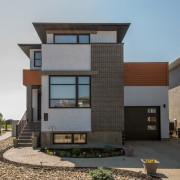 CONTEMPORARY HOME PLANS - MCINTYRE-1376 (WITH SUITE) - FRONT - REGINA, SASKATCHEWAN