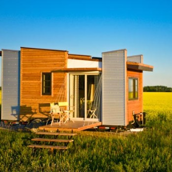 TINY HOUSE PLANS - CONTEMPORARY DRAGONFLY-20 - EXTERIOR IN FIELD 2