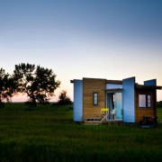 TINY HOUSE PLANS - CONTEMPORARY DRAGONFLY-20 - EXTERIOR AT SUNSET 3