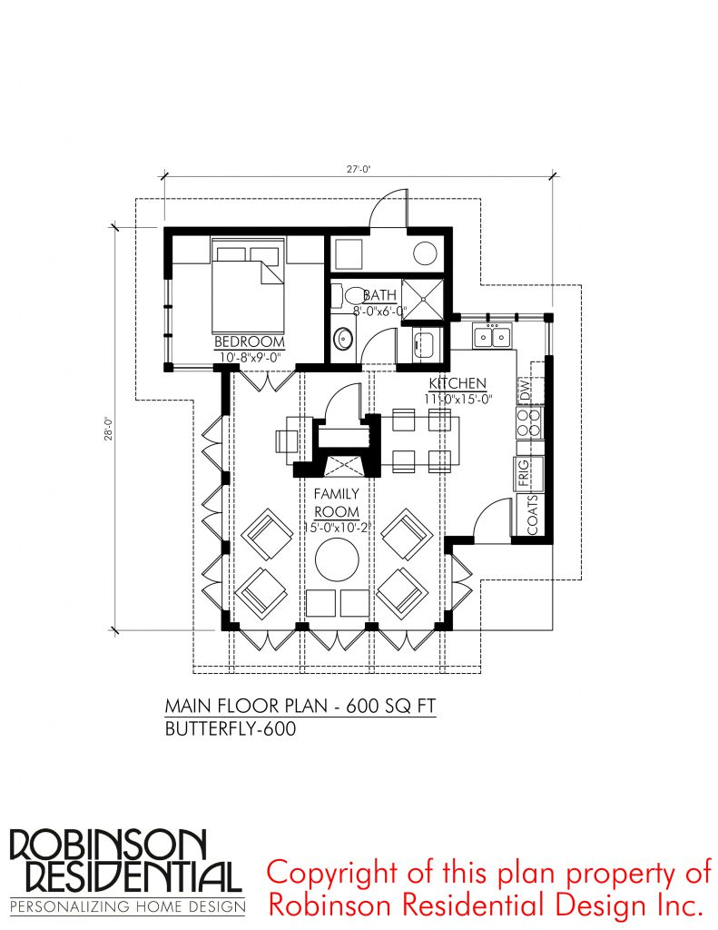 Contemporary butterfly 600 robinson plans for Robinson house plans
