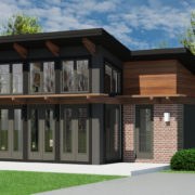 CONTEMPORARY HOME PLANS - BUTTERFLY-600 - FRONT