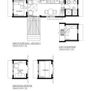 CONTEMPORARY TINY HOUSE PLANS - DRAGONFLY-28 - 01 FLOOR PLAN