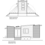 CONTEMPORARY TINY HOUSE PLANS - DRAGONFLY-28 - 02 ELEVATIONS