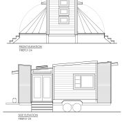 CONTEMPORARY TINY HOUSE PLANS - FIREFLY-24 - 02 ELEVATIONS