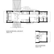 CONTEMPORARY TINY HOUSE PLANS - FIREFLY-28 - 01 FLOOR PLAN