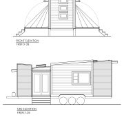 CONTEMPORARY TINY HOUSE PLANS - FIREFLY-28 - 02 ELEVATIONS