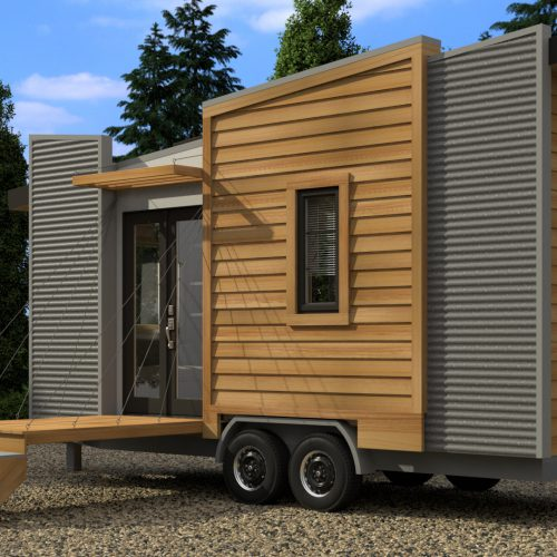 TINY HOUSE PLANS - DRAGONFLY-20 - EXTERIOR