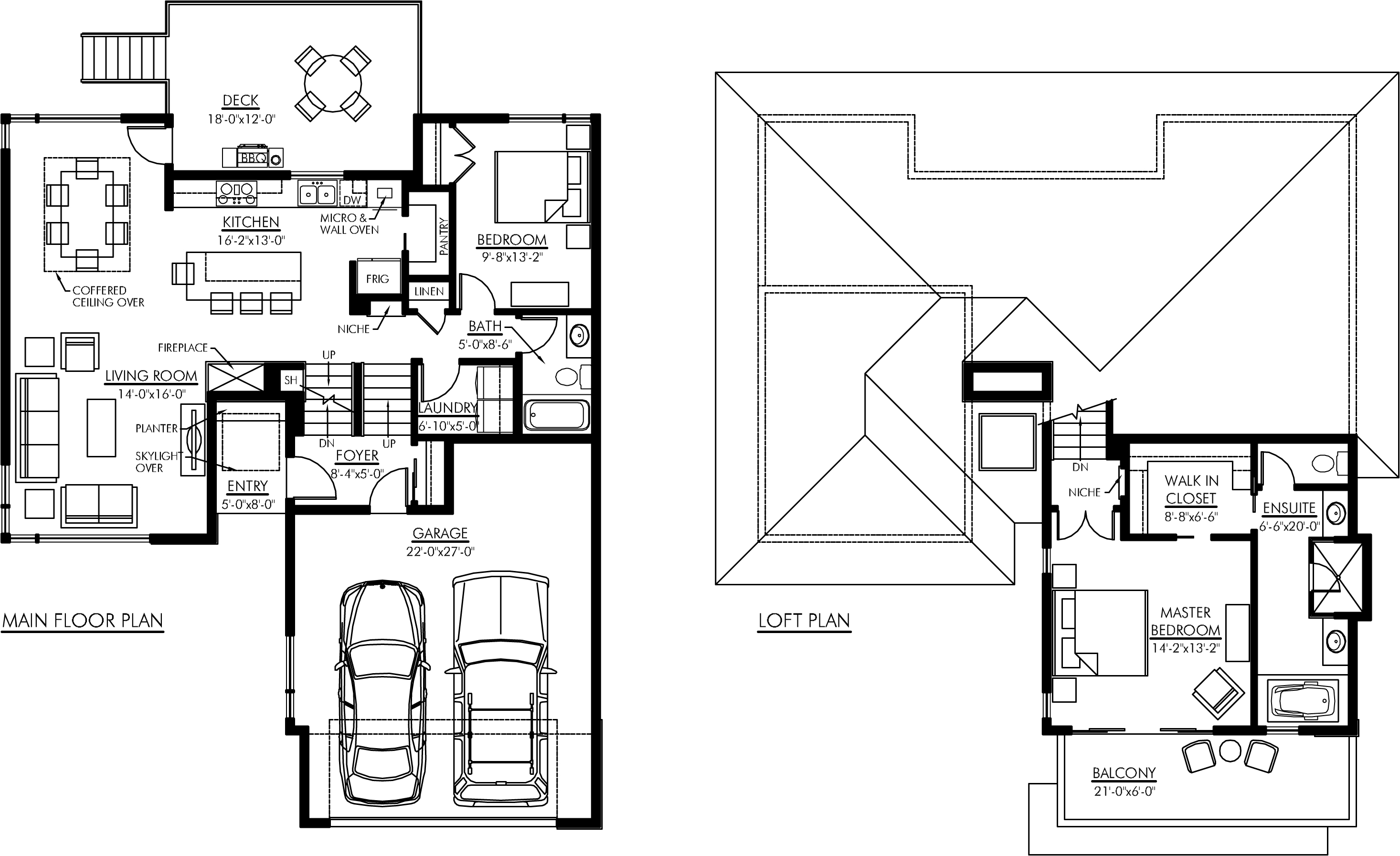 bungalow with loft house plans arts