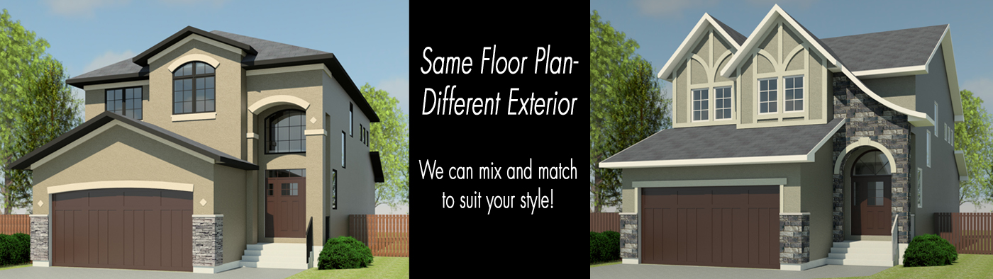 Same Floor Plan – Different Exterior
