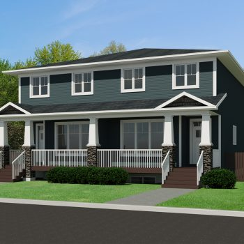 CRAFTSMAN HOME PLANS - SEMI-DETACHED - MUSCA-1816