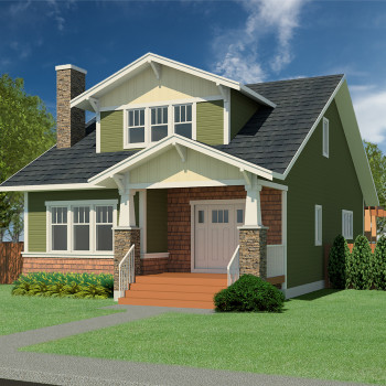 CRAFTSMAN HOME PLANS - BRAWNER