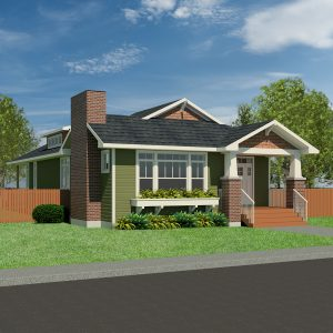 CRAFTSMAN HOME PLANS - EVERETT-1740