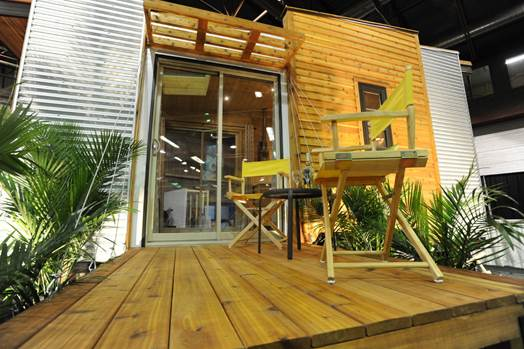 TINY HOUSE PLANS - CONTEMPORARY DRAGONFLY-20 - EXTERIOR 2 AT REGINA HOME SHOW 2016