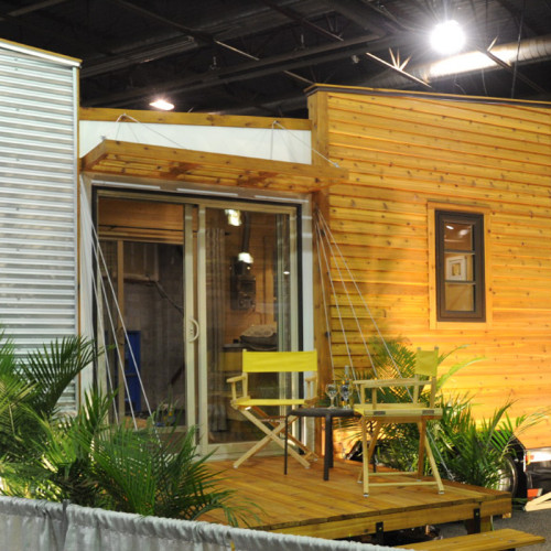 TINY HOUSE PLANS - CONTEMPORARY DRAGONFLY-20 - EXTERIOR AT REGINA HOME SHOW 2016