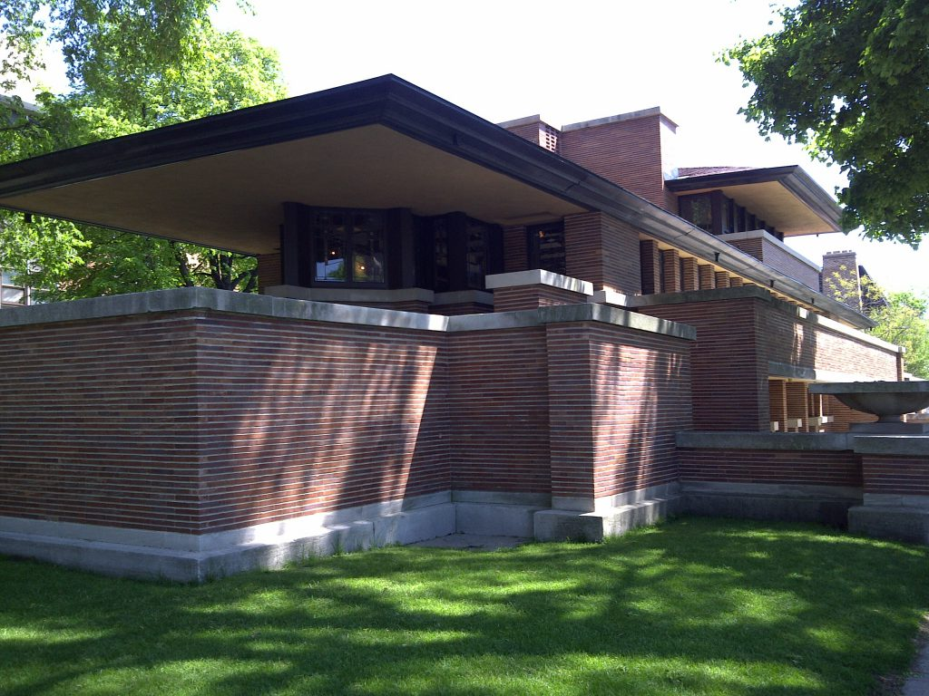 PRAIRIE HOME PLANS - FRANK LLOYD WRIGHT - ROBIE HOUSE - CHICAGO, ILLINOIS