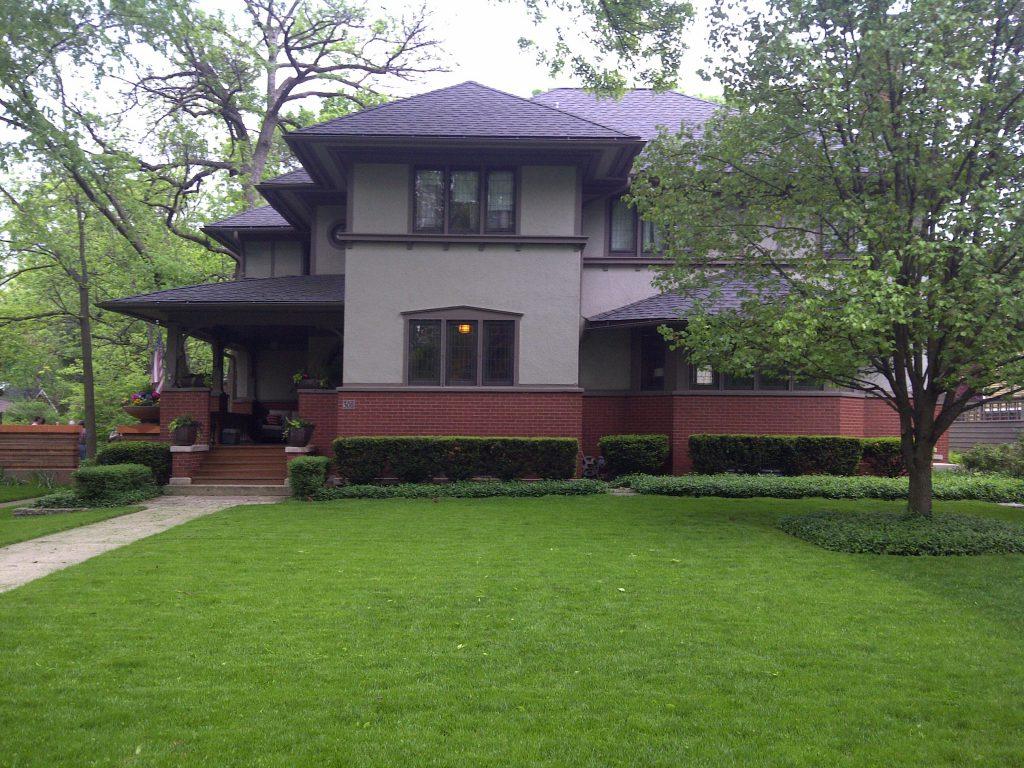 PRAIRIE HOME PLANS - FRANK LLOYD WRIGHT - CHICAGO, ILLINOIS