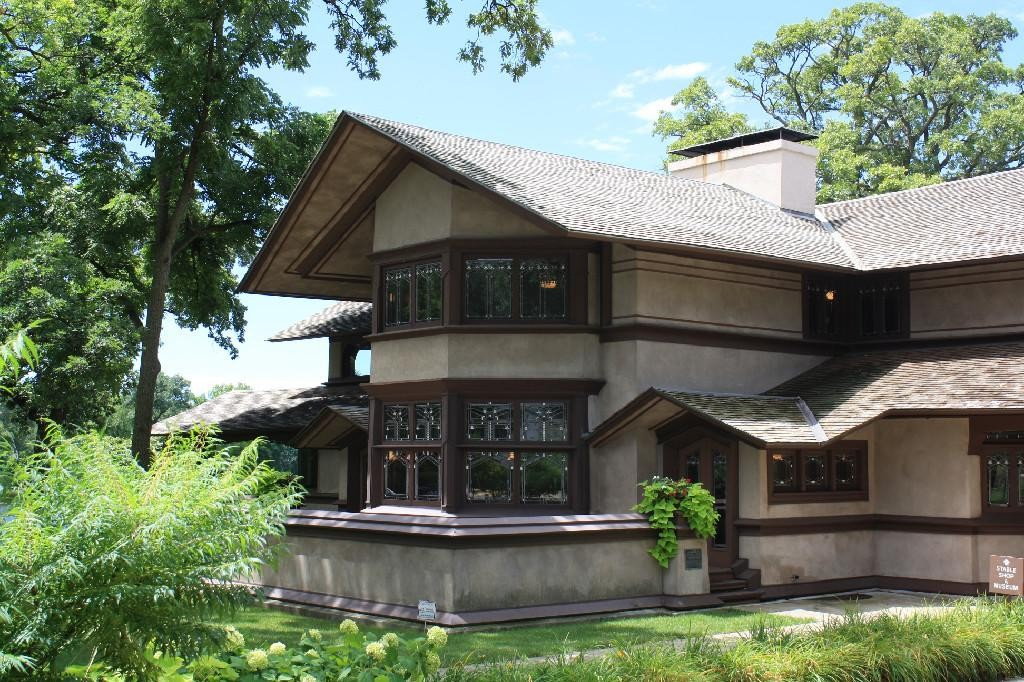 PRAIRIE HOME PLANS - FRANK LLOYD WRIGHT - B HARLEY BRADLEY HOUSE - KANKAKEE, ILLINOIS