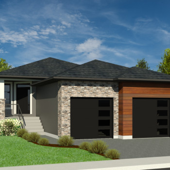 CONTEMPORARY HOME PLANS - WREN-1350