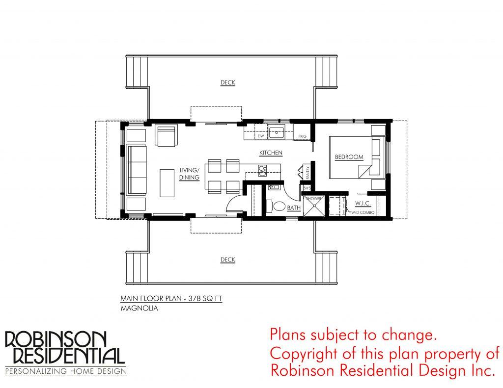 Contemporary magnolia 378 robinson plans for Robinson house plans