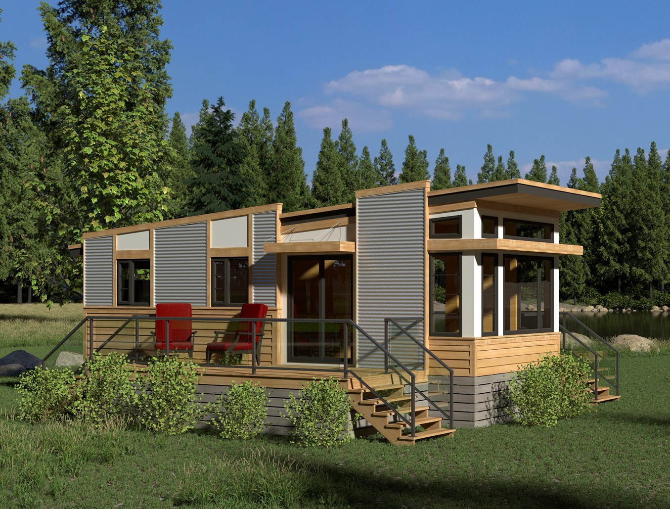 Contemporary magnolia 378 robinson plans for Small modern home plans