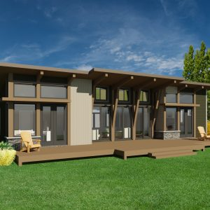 CONTEMPORARY HOME PLANS - NOKOMIS-1275 - FRONT VIEW