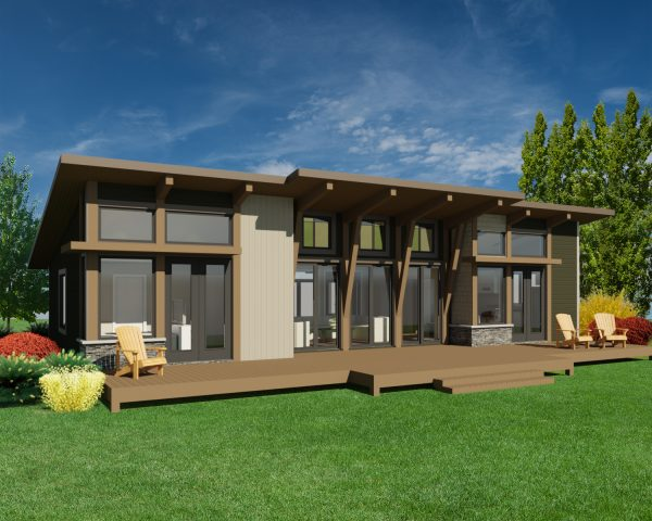 CONTEMPORARY HOME PLANS – NOKOMIS-1275 – FRONT VIEW