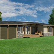 CONTEMPORARY HOME PLANS – NOKOMIS-1275 – REAR VIEW