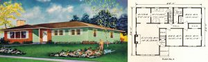 1957 Bungalow & Floor Plan