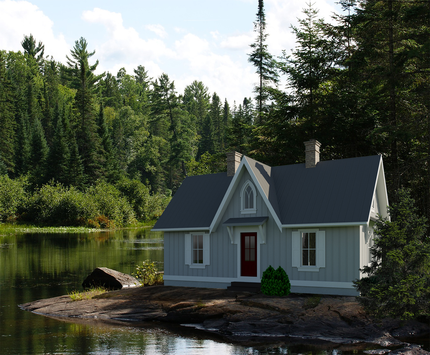 Ontario 504 robinson plans for Small cottage plans canada